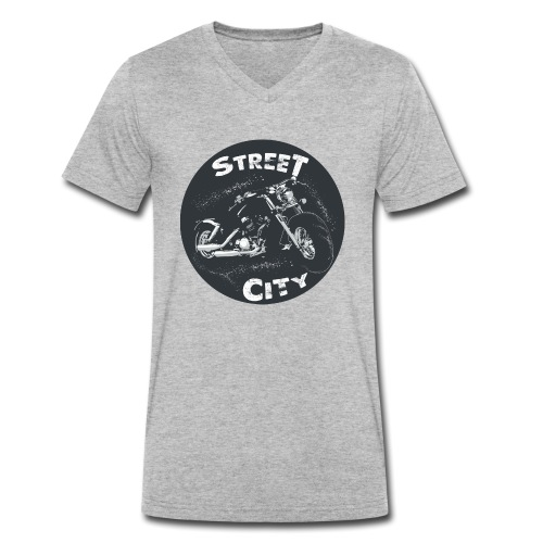 motocicleta - Camiseta ecológica hombre con cuello de pico de Stanley & Stella
