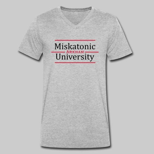 Miskatonic University - Men's Organic V-Neck T-Shirt by Stanley & Stella