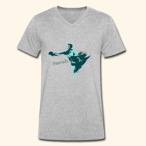 Passionate on winning table tennis champ - Männer Bio-T-Shirt mit V-Ausschnitt von Stanley & Stella