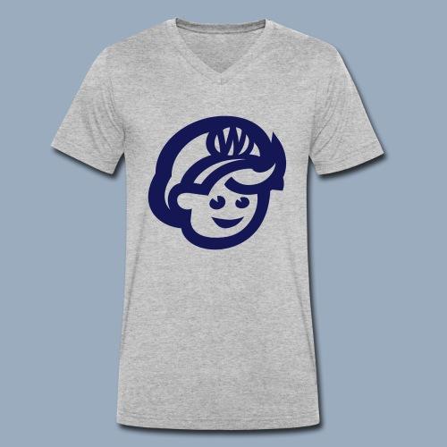 logo bb spreadshirt bb kopfonly - Männer Bio-T-Shirt mit V-Ausschnitt von Stanley & Stella