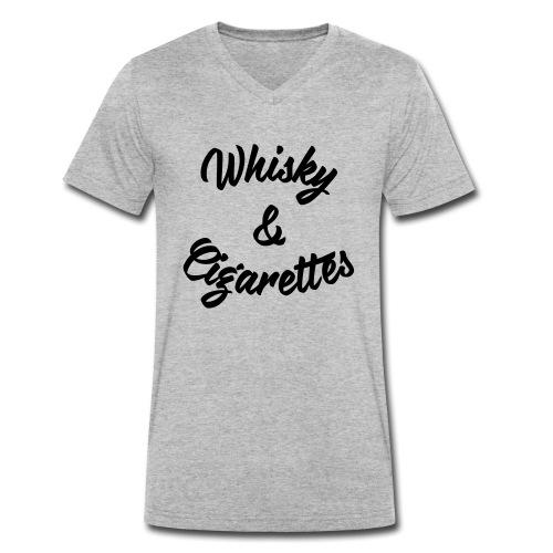 Whisky and Cigarettes - Männer Bio-T-Shirt mit V-Ausschnitt von Stanley & Stella
