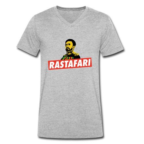 Rastafari - Haile Selassie - HIM - Jah Rastafara - Männer Bio-T-Shirt mit V-Ausschnitt von Stanley & Stella