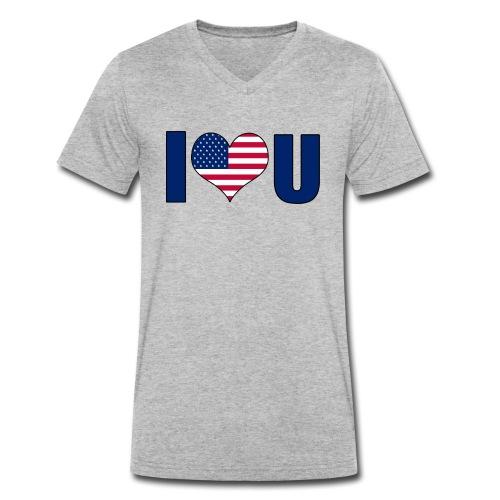 I love u USA - Men's Organic V-Neck T-Shirt by Stanley & Stella