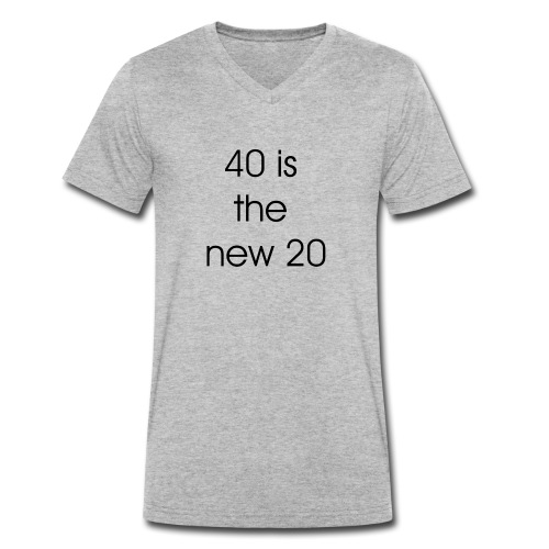 40 is the new 20 - Mannen bio T-shirt met V-hals van Stanley & Stella