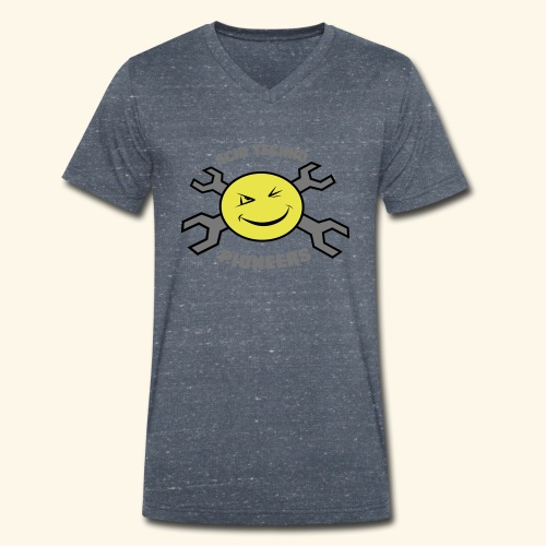 ACID TECHNO PIONEERS - SILVER EDITION - Men's Organic V-Neck T-Shirt by Stanley & Stella