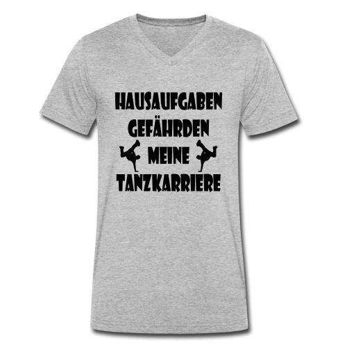 hausaufgaben_tanzkarriere - Männer Bio-T-Shirt mit V-Ausschnitt von Stanley & Stella