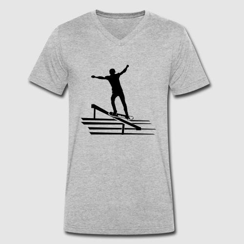 Skateboard - Männer Bio-T-Shirt mit V-Ausschnitt von Stanley & Stella