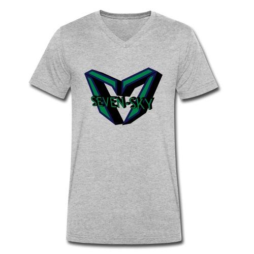 Seven-Sky Shirt Männer - Männer Bio-T-Shirt mit V-Ausschnitt von Stanley & Stella