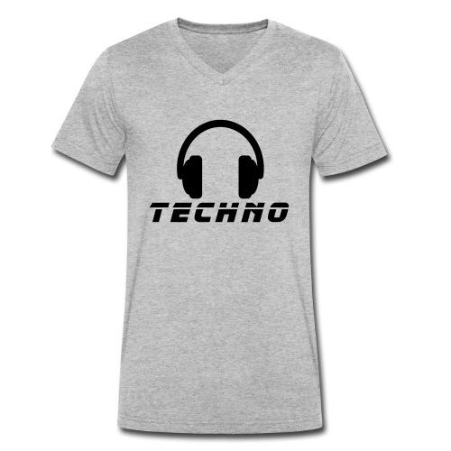 Techno Music - Männer Bio-T-Shirt mit V-Ausschnitt von Stanley & Stella