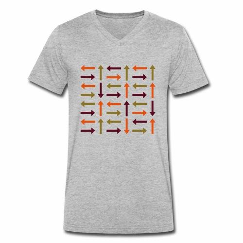 Pfeile bunt - Männer Bio-T-Shirt mit V-Ausschnitt von Stanley & Stella