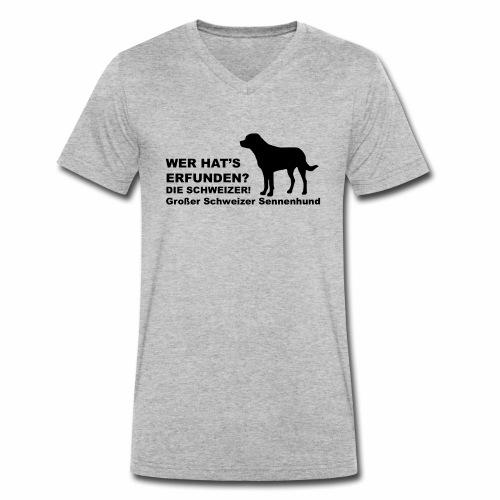 Wer hats erfunden - GS - Männer Bio-T-Shirt mit V-Ausschnitt von Stanley & Stella