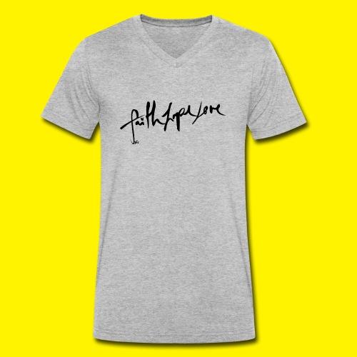 Faith Hope Love - Men's Organic V-Neck T-Shirt by Stanley & Stella