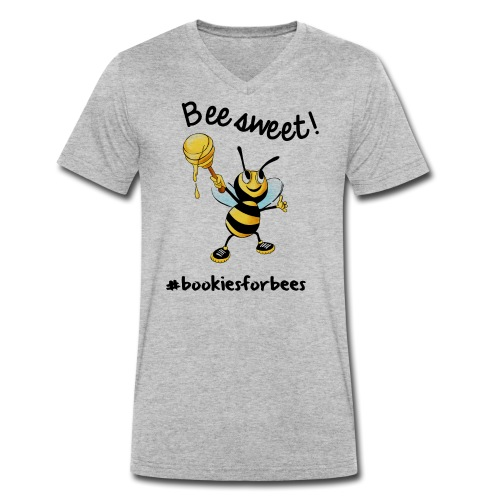 Bees7-1 Bienen sind süß | save the bees - Men's Organic V-Neck T-Shirt by Stanley & Stella