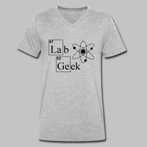 Lab Geek Atom - Men's Organic V-Neck T-Shirt by Stanley & Stella