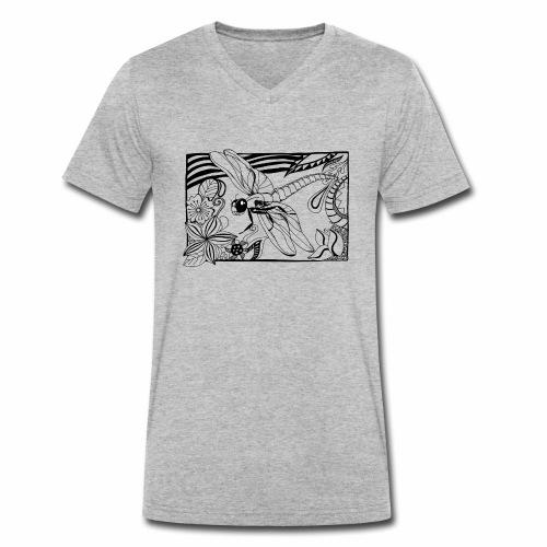 Dragonfly - Ekologiczna koszulka męska z dekoltem w serek Stanley & Stella