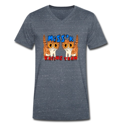 Miss'K Racing Team - T-shirt ecologica da uomo con scollo a V di Stanley & Stella