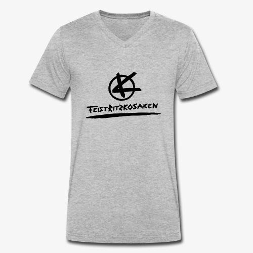 Feistritzkosaken Logo dunkel - Männer Bio-T-Shirt mit V-Ausschnitt von Stanley & Stella