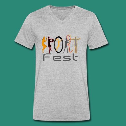 sportfest - Männer Bio-T-Shirt mit V-Ausschnitt von Stanley & Stella