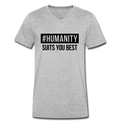 women's Premium T-Shirt #humanity - Männer Bio-T-Shirt mit V-Ausschnitt von Stanley & Stella