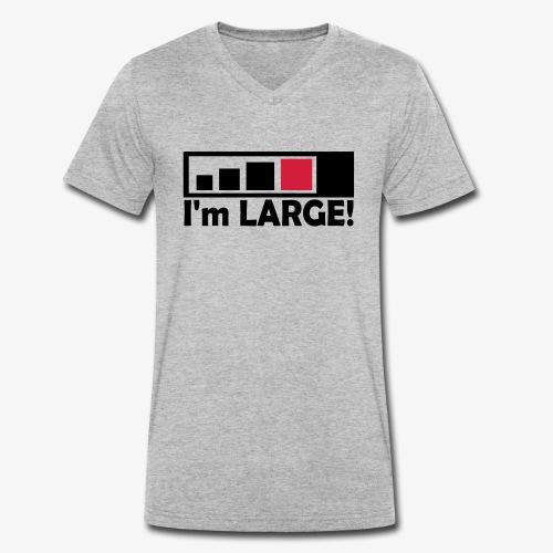 large_geocacher - Männer Bio-T-Shirt mit V-Ausschnitt von Stanley & Stella