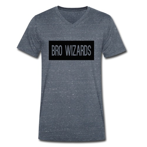 Browizardshoodie - Men's Organic V-Neck T-Shirt by Stanley & Stella
