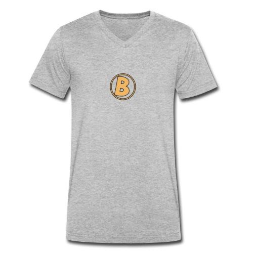 Galaxy Bear Golden Edition T-Shirt - Men's Organic V-Neck T-Shirt by Stanley & Stella