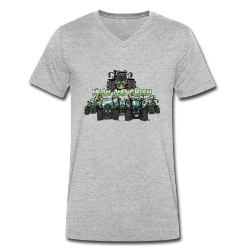 MeanAndGreen6F - Mannen bio T-shirt met V-hals van Stanley & Stella