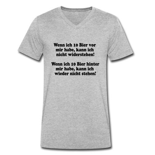 10 Bier (Spruch) - Männer Bio-T-Shirt mit V-Ausschnitt von Stanley & Stella