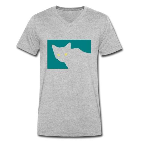 Spy Cat - Men's Organic V-Neck T-Shirt by Stanley & Stella