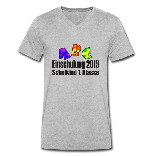 Einschulung 2019 1 Klasse - Männer Bio-T-Shirt mit V-Ausschnitt von Stanley & Stella