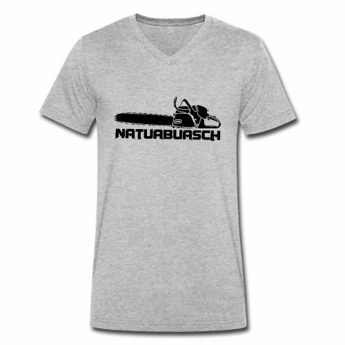 Natuabuasch Motorsäge - Männer Bio-T-Shirt mit V-Ausschnitt von Stanley & Stella