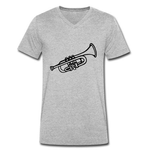 Trompete - Männer Bio-T-Shirt mit V-Ausschnitt von Stanley & Stella