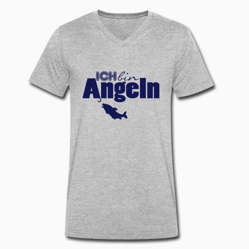 Ich bin Angeln - Männer Bio-T-Shirt mit V-Ausschnitt von Stanley & Stella