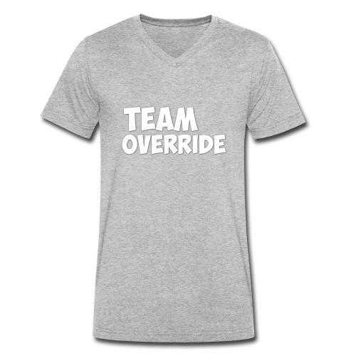 Team Override T-Shirt grey Youtube - Men's Organic V-Neck T-Shirt by Stanley & Stella