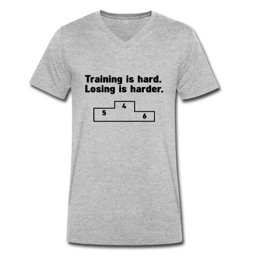 Training vs losing - Men's Organic V-Neck T-Shirt by Stanley & Stella