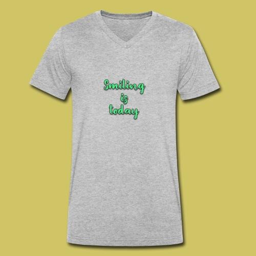 Sonrie es lo de hoy - Men's Organic V-Neck T-Shirt by Stanley & Stella