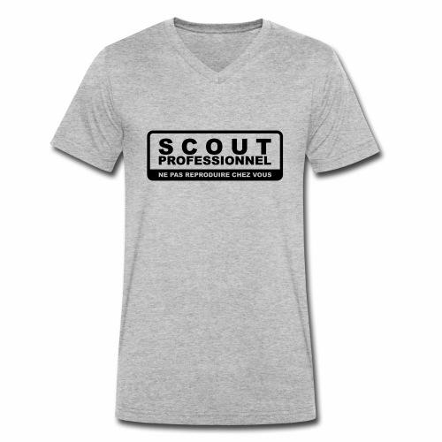 Scout Professionnel - Ne pas reproduire chez vous - T-shirt bio col V Stanley & Stella Homme