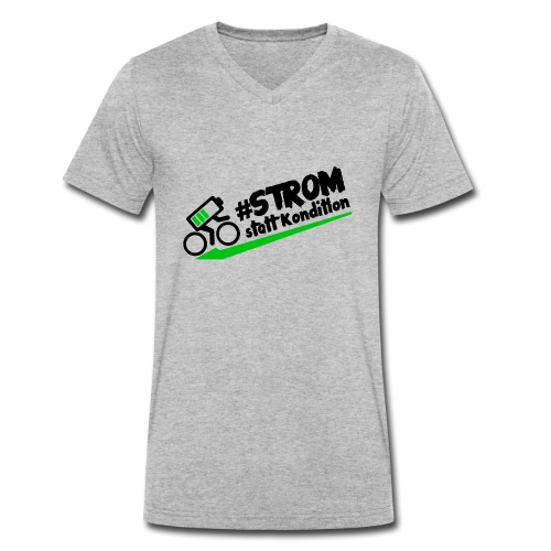 Strom statt Kondition - Männer Bio-T-Shirt mit V-Ausschnitt von Stanley & Stella