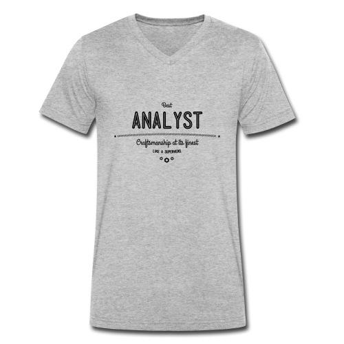 Bester Analyst - Handwerkskunst vom Feinsten, wie - Männer Bio-T-Shirt mit V-Ausschnitt von Stanley & Stella