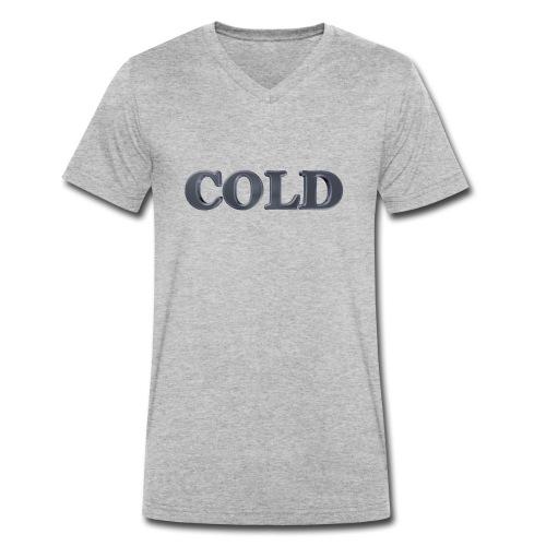 Cold kalt Winter - Männer Bio-T-Shirt mit V-Ausschnitt von Stanley & Stella