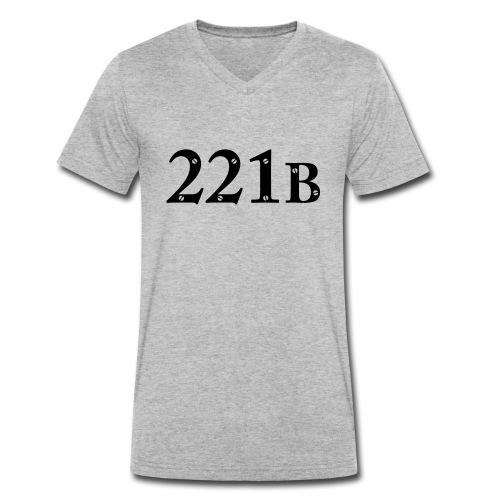 Sherlock Holmes - 221B - Männer Bio-T-Shirt mit V-Ausschnitt von Stanley & Stella