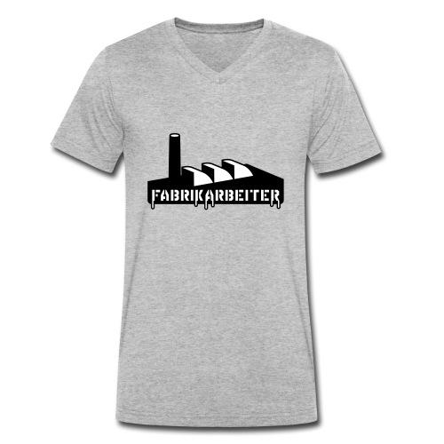 Fabrikarbeiter - Männer Bio-T-Shirt mit V-Ausschnitt von Stanley & Stella