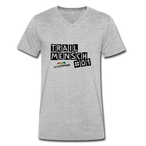 TrailMensch#01m - Männer Bio-T-Shirt mit V-Ausschnitt von Stanley & Stella