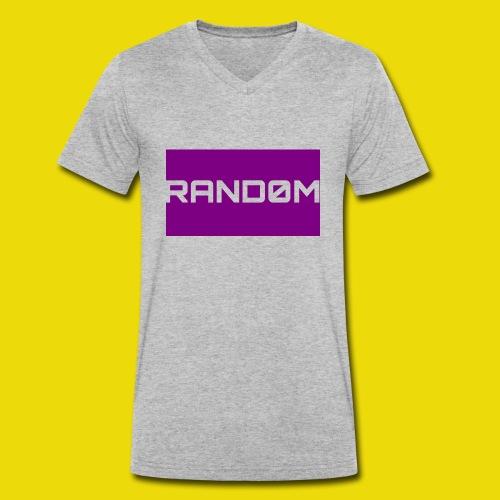 Random Logo - Men's Organic V-Neck T-Shirt by Stanley & Stella