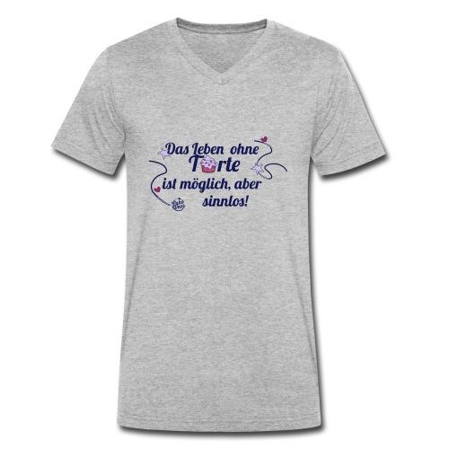 sinnlos -Büdel- - Männer Bio-T-Shirt mit V-Ausschnitt von Stanley & Stella