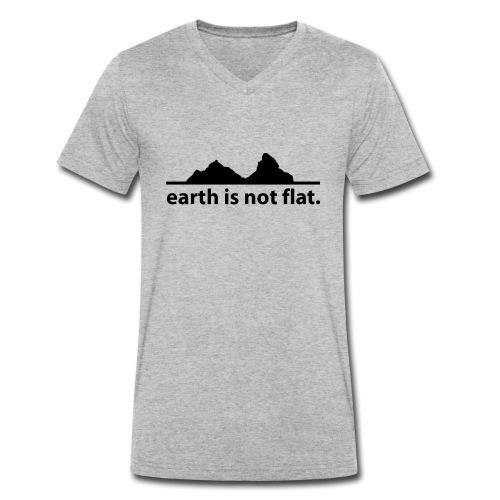 earth is not flat. - Männer Bio-T-Shirt mit V-Ausschnitt von Stanley & Stella