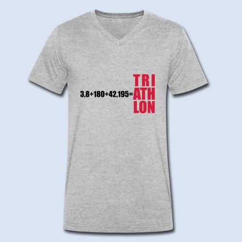 Triathlon Swim Bike Run - Männer Bio-T-Shirt mit V-Ausschnitt von Stanley & Stella