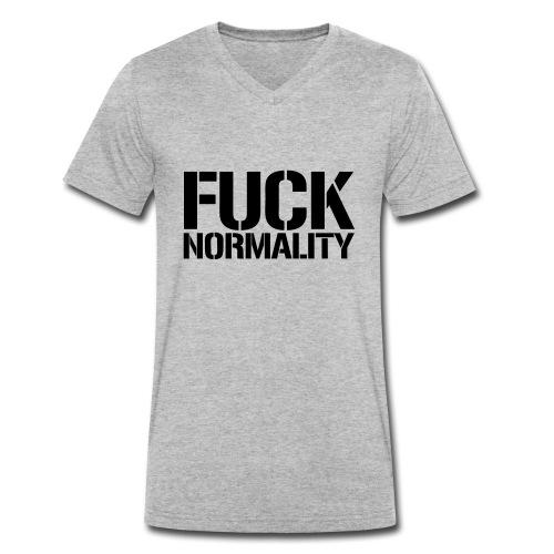 Fuck Normality - Männer Bio-T-Shirt mit V-Ausschnitt von Stanley & Stella