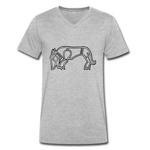 Wikinger Wolf - Männer Bio-T-Shirt mit V-Ausschnitt von Stanley & Stella