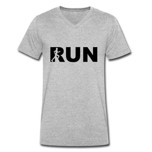 run running woman - Männer Bio-T-Shirt mit V-Ausschnitt von Stanley & Stella
